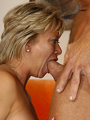 This older slut is horny and ready to fuck anyone!