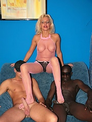 Hot older whore takes on a double team of dicks!