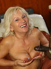 Granny shows off her big, OLD, tits!