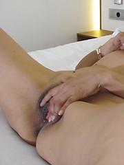 Kinky housewife playing with herself