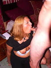 Hot american housewife sucking and fucking hard