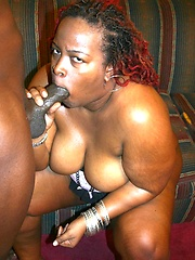 Big booty ebony bbw model riding on top of a black cock and gets nasty cum facial