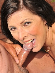 Granny Margo T in a hardcore DP fucking action