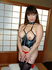 Big tit Japanese lets man play with her juggs