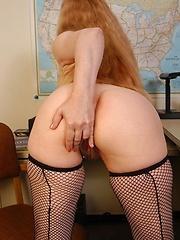 Big old tits in solo scene