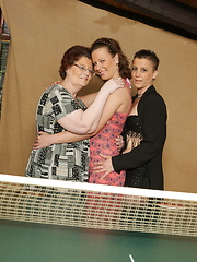Two lesbo matures have threesome with young teen girl