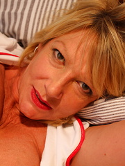 British mature nurse getting a horny patient to deal with