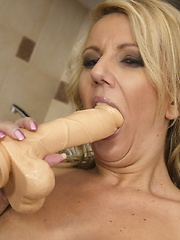 Hot steamy mom playing with her wet pussy