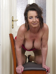 Horny housewife playing with her pussy