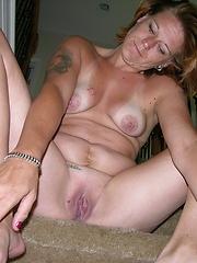 Amateur Mature Blonde Strips Bikini And Spreads