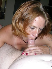 Mature Amateur Gives Sloppy Wet Blowjob