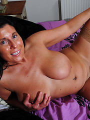 Horny big breasted mature slut getting wet and wild