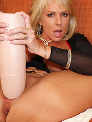 Sexy Alysha fucks some huge dildos