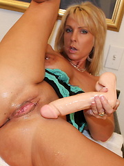 Alysha does a little DP with her dildos