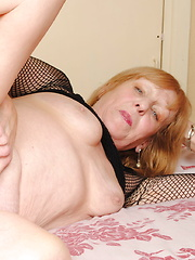 Naughty and horny housewife playing with herself