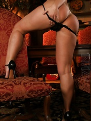 Gorgeous busty brunette, Aria Giovanni, puts on a hot striptease and heats things up. Dolled up in her sexy bra and panties she is oozing sexual power and energy!