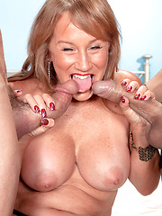 One Mature, Two Cocks