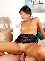 Exotic Anilos rides cock with her juicy mature pussy