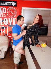 This horny housewife plays with her toyboy
