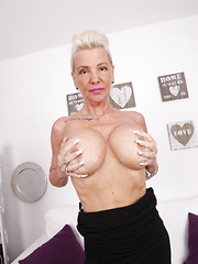 Naughty German housewife playing with herself