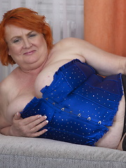 Big breasted mature BBW showing off her big bazookas