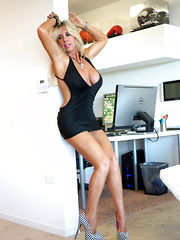 Beautiful Blonde MILF Shares Her Shaved Pussy