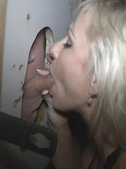 Gulping Cum At The Gloryholes