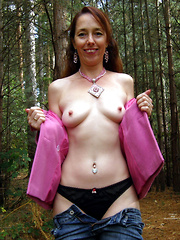 Mature wives ready to be naked on public