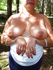 Older dames exposing their breasts for us