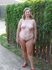 Fat dames showing body right on the town streets