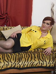 Naughty mature lady having fun with her toyboy