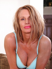 Horny American mom playing with herself