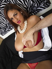 Horny mom gets it in POV style