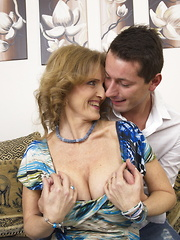 Naughty toy boy doing a very horny mature lady