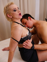 This mature lady loves to fool around with her toy boy